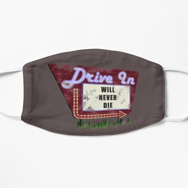 The Drive-In Will Never Die Flat Mask