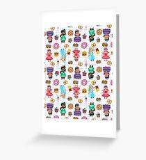 Cute Princesses and Junk Food Greeting Card