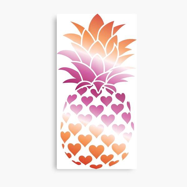 Lesbian Pineapple (Pink and Orange Version) Metal Print