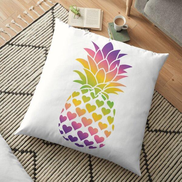 Lesbian Pineapple (Multicolor Version) Floor Pillow