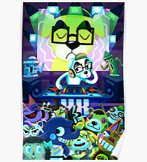 DJ KK Animal Crossing Poster