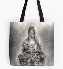 Buddha buddhist sumi-e tibetan calligraphy 禅 original ink painting artwork Tote Bag