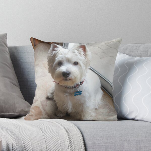 Is there a Westie translator in the house? Throw Pillow