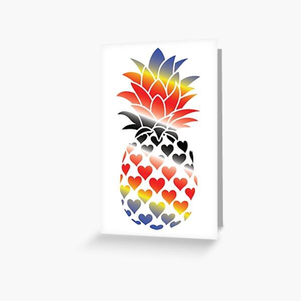 Polyamorous Pineapple Greeting Card