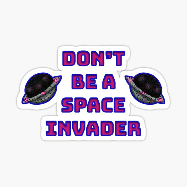 Space Invader Sticker