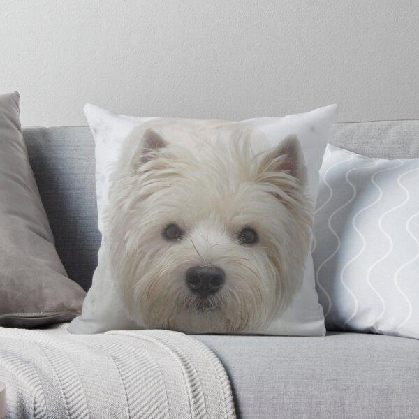 Westie  White Throw Pillow