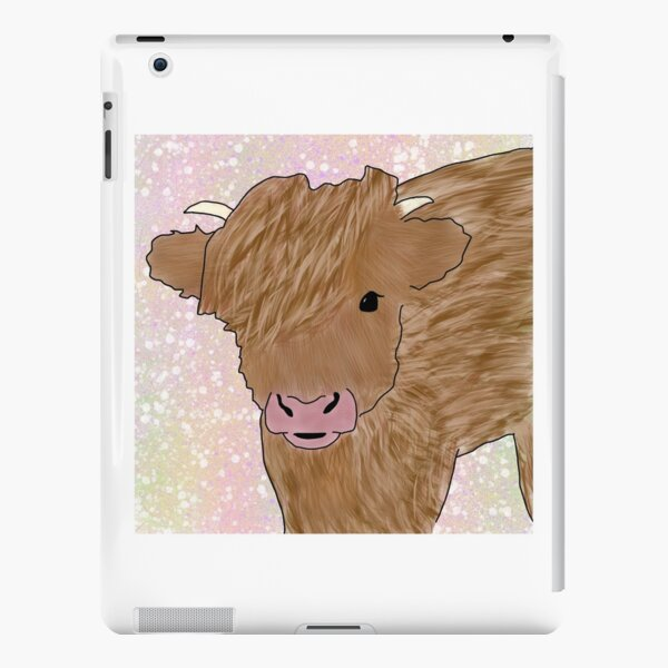 Cute Fuzzy Cow iPad Snap Case