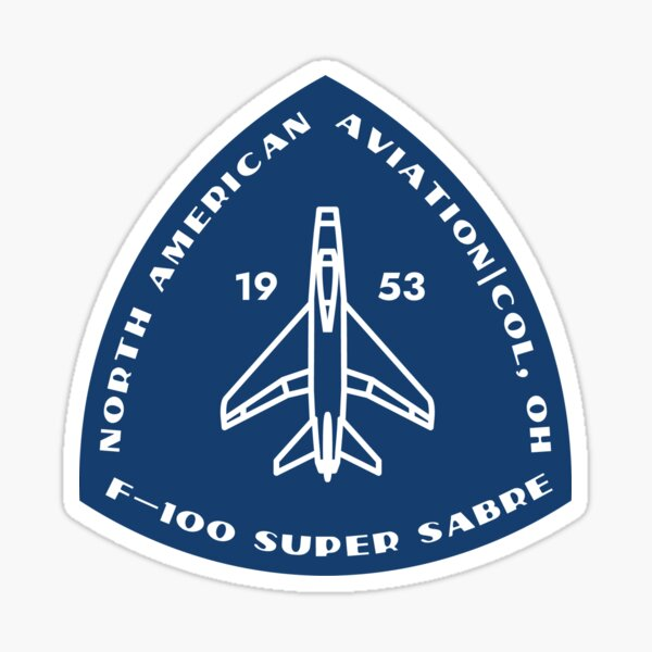 F-100 Super Sabre badge solid blue Sticker