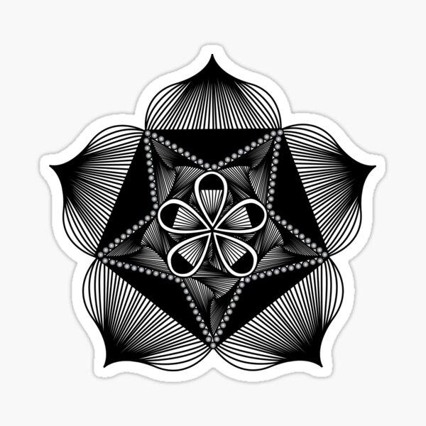 Geometric Flower | Petal Pentagram I Sticker