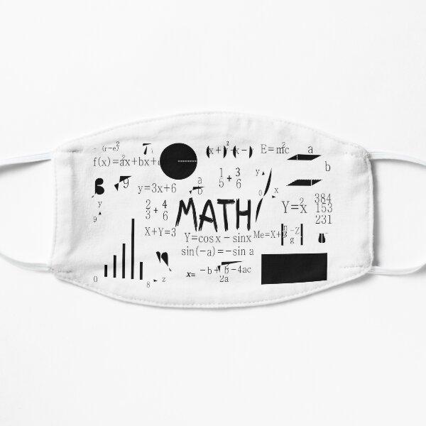 Mascarilla de matemáticas Tarea de matemáticas Mascarillas divertidas para profesores y estudiantes Regalo Mascarilla plana