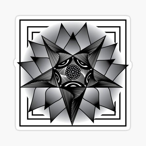 Geometric Flower | Petal Pentagram II Sticker