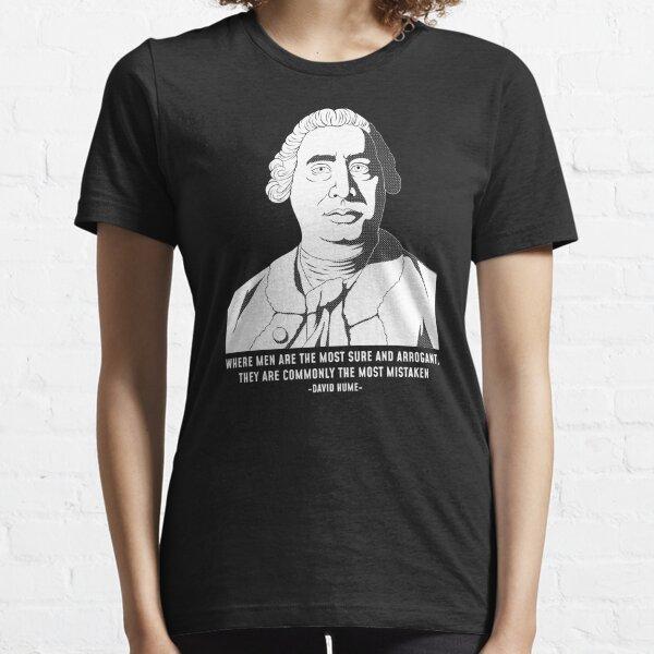 Philosophy Quote Skeptic David Hume design Essential T-Shirt