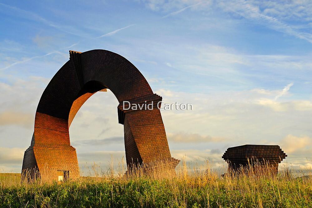 Simnai Dirdro (Twisted Chimney), Rhymney, Wales by David Carton