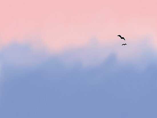 Rose Quartz And Serenity Sky Posters By Platypusdoodles Redbubble