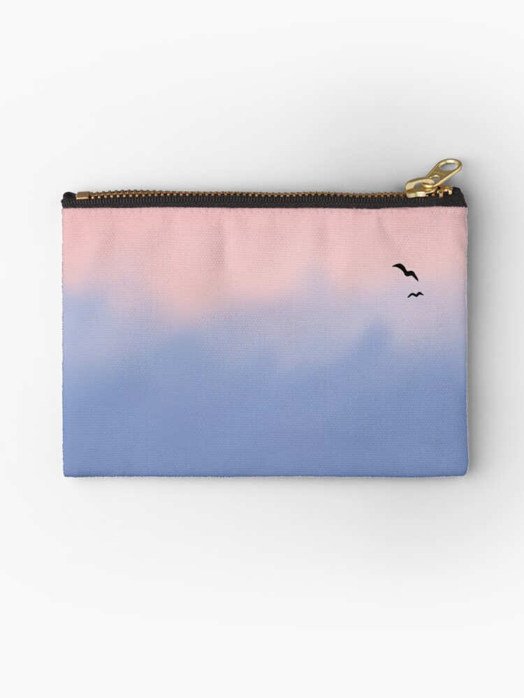 Rose Quartz And Serenity Sky Studio Pouches By Platypusdoodles