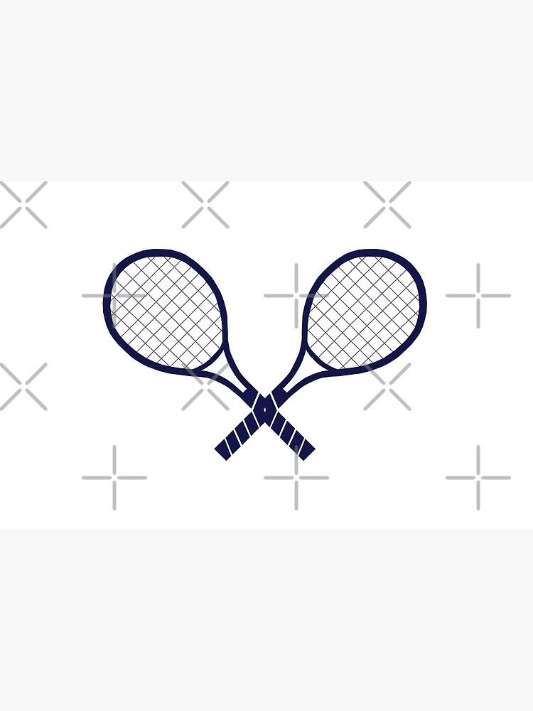 Crossed Tennis Rackets  by emeraldlane