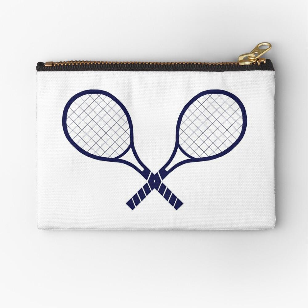 Crossed Tennis Rackets  Zipper Pouch