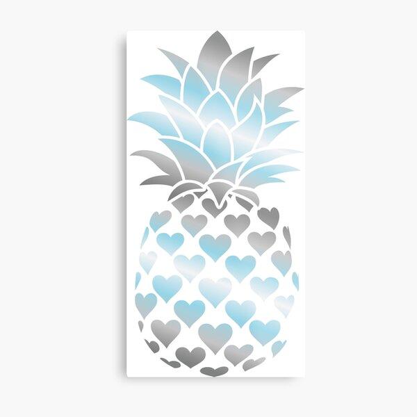 Demiboy Pineapple Metal Print