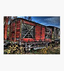 Red Waggon Photographic Print