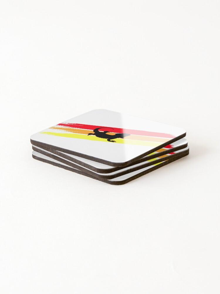 Alternate view of 3 Stripe Rainbow Bearded Dragon Coasters (Set of 4)