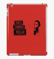 Lights. Cameras. YELLA! iPad Case/Skin
