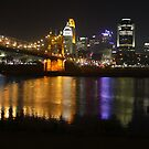 Cincinnati At Night by Tony Wilder