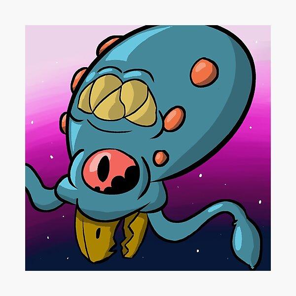 Space Squid Photographic Print