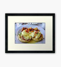 Eggs Benny Framed Print