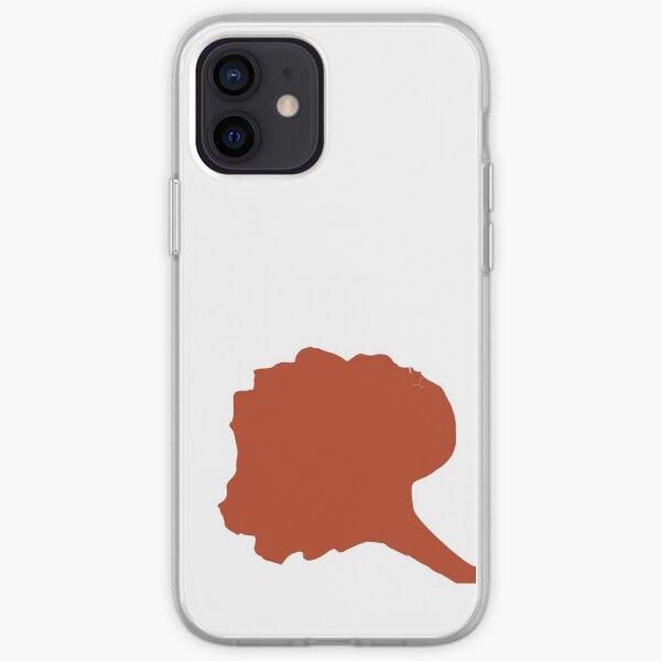 Silueta de pétalo de Flamboyant Funda blanda para iPhone