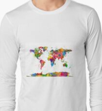 Map of the World Map Watercolor T-Shirt