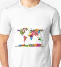 Map of the World Map Watercolor Unisex T-Shirt