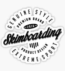 Skimboarding Extreme Sport  White Art Sticker