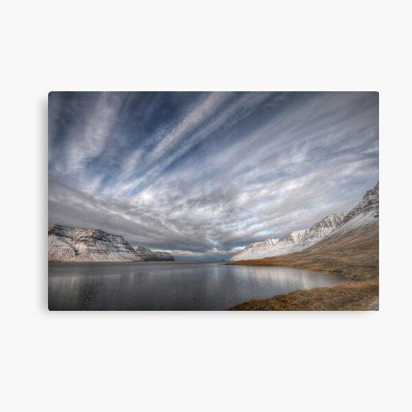 Crossed Clouds in Western Iceland Metal Print