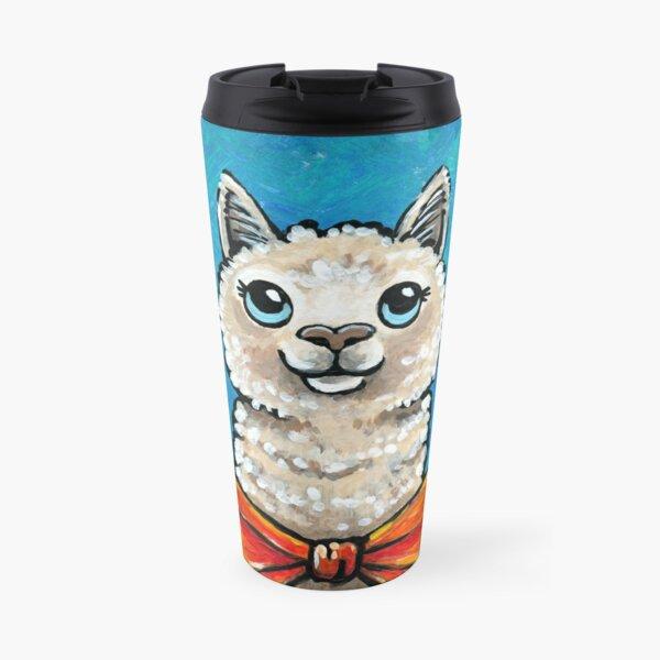 Clarence the Fluffy Dapper Alpaca Travel Mug