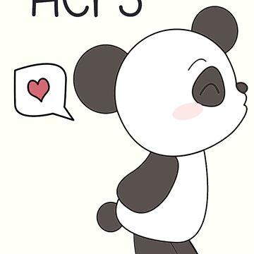 """His & Hers"" Panda (Couple Case) Boy Version [B&W] von charsheee"