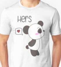 """His & Hers"" Panda (Couple Shirts) Boy Version Unisex T-Shirt"