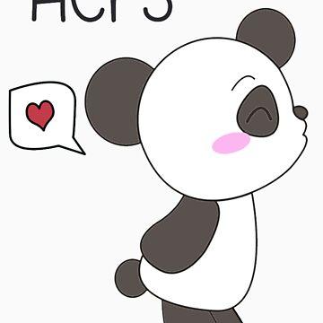 """His & Hers"" Panda (Couple Shirts) Boy Version von charsheee"