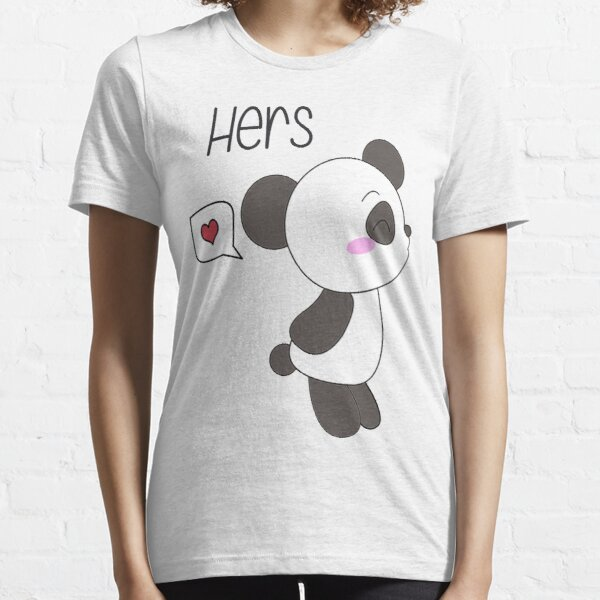 """His & Hers"" Panda (Couple Shirts) Boy Version Essential T-Shirt"