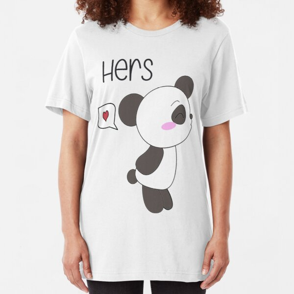 """His & Hers"" Panda (Couple Shirts) Boy Version Slim Fit T-Shirt"