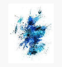 Scotland Paint Splashes Map Photographic Print