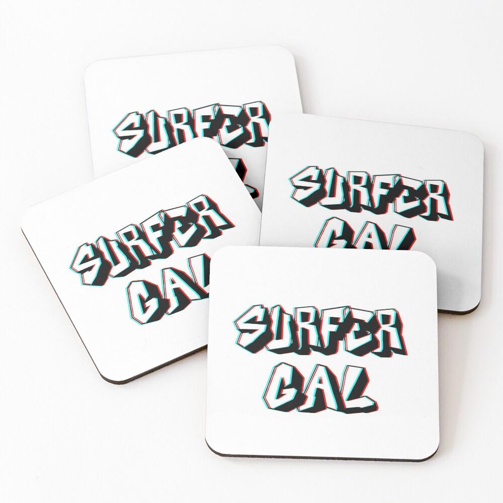 surfer gal ~ subway surfers Coasters (Set of 4)