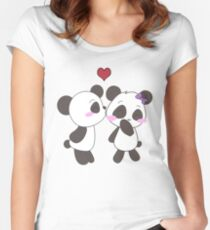 Panda Love Apparel  Women's Fitted Scoop T-Shirt