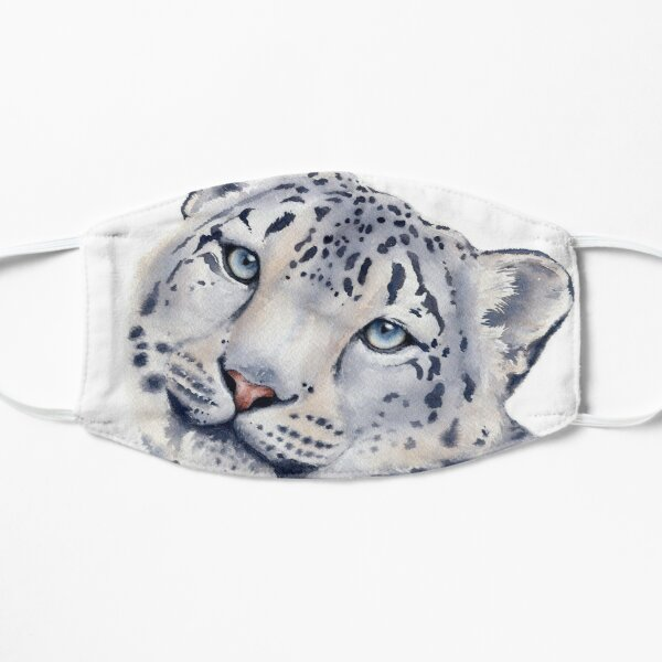 Snow Leopard in Watercolor Mask
