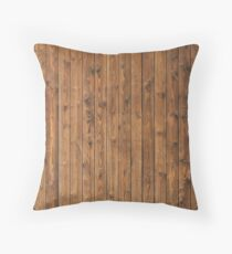 KNOTTY WOOD Throw Pillow