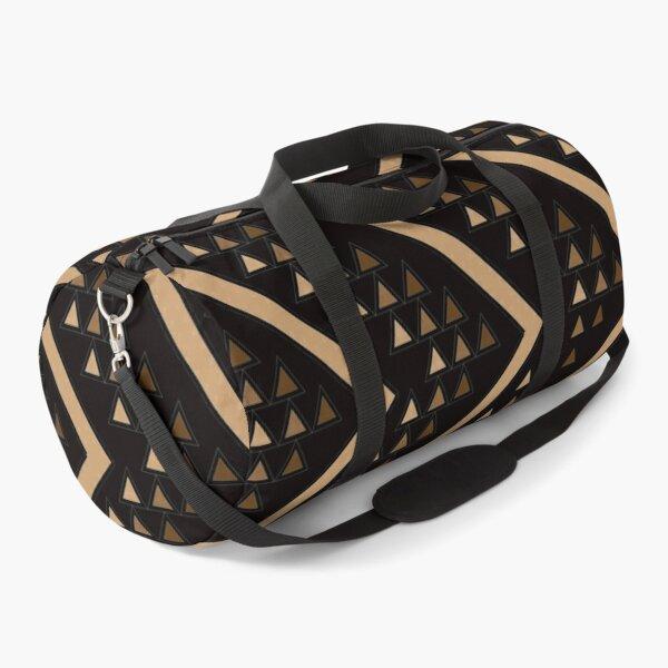 Brown Chevron Duffle Bag