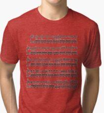 Pokemon Theme Song Sheet Music Tri-blend T-Shirt