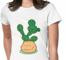 Content Cactus Womens Fitted T-Shirt