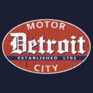 Vintage Detroit (Distressed Design) by robotface