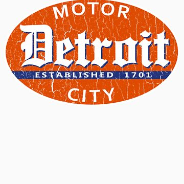 Vintage Detroit (Distressed Design) by robotface