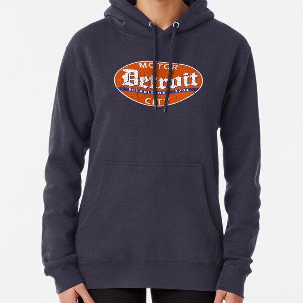 Vintage Detroit (Distressed Design) Pullover Hoodie